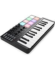 Vangoa Worlde Panda MINI Portable MIDI Keyboard Controller, 25 Keys USB Beat Pad with Colorful Drum Pad