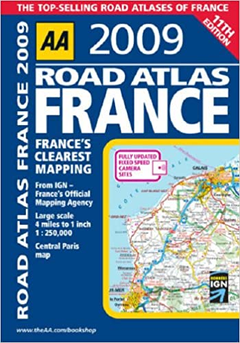Large Scale Map Of France.Aa Road Atlas France Aa Atlases And Maps Amazon Co Uk Aa