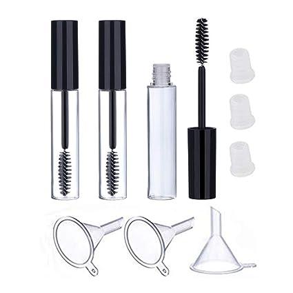f2f92408d88 Amazon.com: ❤Lemoning❤ Refillable 3Pcs 10ml Empty Mascara Tube Wand Eyelash  Cream Container Bottle: Kitchen & Dining