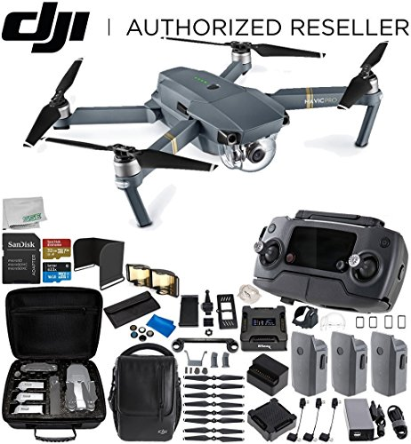 DJI Mavic Pro Fly More Combo Collapsible Quadcopter 3 Battery Ultimate Bundle