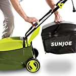Sun joe mj401e 12 amp electric lawn mower 10 powerful: 13-amp motor cuts a 14-inch wide path adjustable deck: tailor cutting height with 3-position height control steel blades: durable 14-inch steel blade cuts with precision