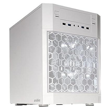 anidees AI7 White Cubo Blanco Carcasa de Ordenador - Caja de Ordenador (Cubo, PC, De plástico, Acero, ATX,Mini-ATX,Mini-ITX, Blanco, 17,4 cm)