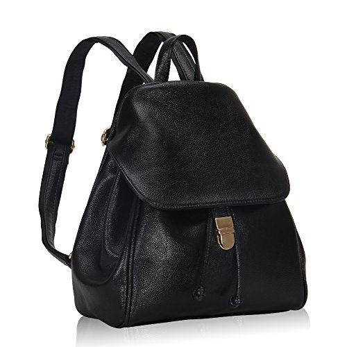 Hynes Victory Refined Women Flap Backpack Black