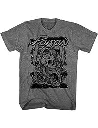 Poison - Skull Snake Lightning - Adult T-Shirt