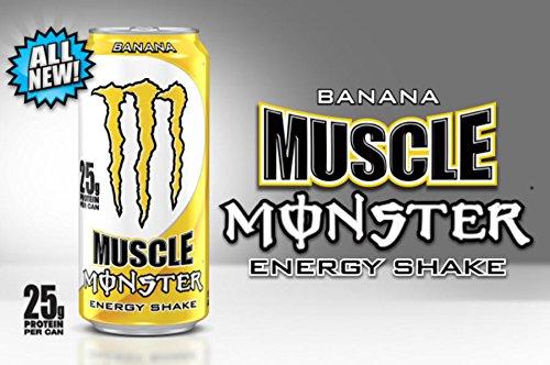 16 pack - monstruo muscular energía Shake - Banana - 15oz.