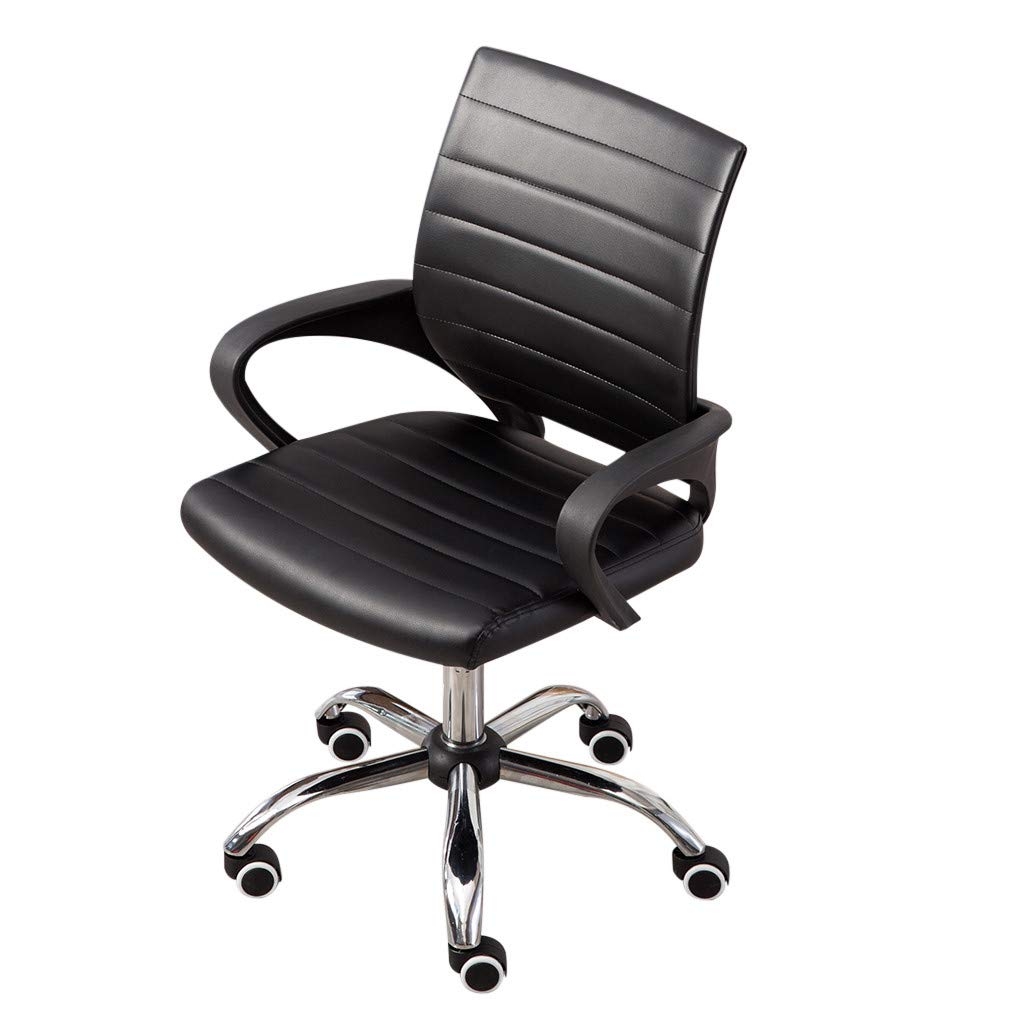 Chenway Office Swivel Chair with Arm Adjustable Height Lift Chair with Lumbar Support Reception Leather Chair [Ship from USA Directly]