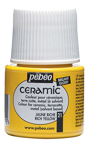 Pebeo Ceramic Enamel Effect Yellow