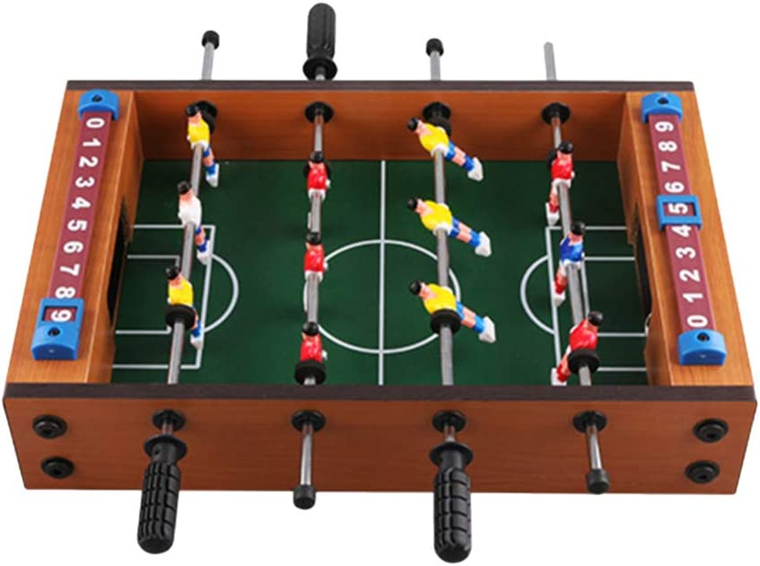LIOOBO Mesa de futbolín Mini Juego de Escritorio de Inteligencia Deportiva de fútbol Arcade de Mesa para Sala de Juegos Interior: Amazon.es: Deportes y aire libre