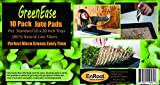 GreenEase Jute Microgreens Hydroponic Grow Pads - 10 Pack, Fits 10x20 standard nursery tray. Grow nutritious Organic Microgreens, Wheat grass, Plant and Seed germination. Organic Use Certified.