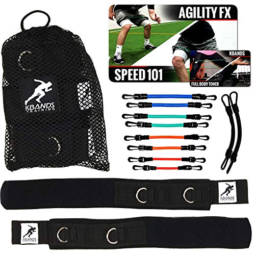 (Kbands | Advanced Speed and Strength Leg Resistance Bands | Includes Speed 101 and Agility FX Digital Training Programs)