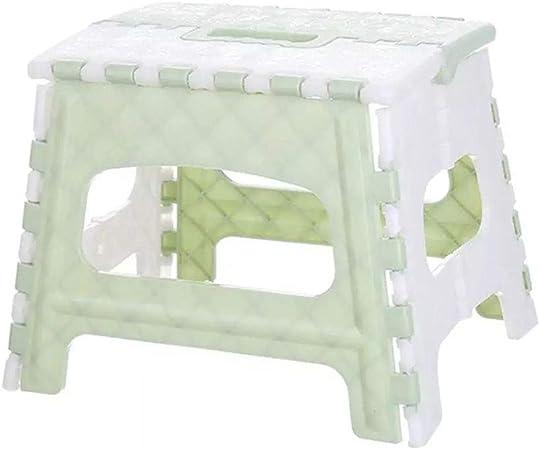Aijin Paso Escalera Plegable De Plástico Ligero Taburete De Paso, 7.4 Pulgadas Plegable Taburete De Paso para Niños Y Adultos No Slip De Cocina Baño (Paquete De 2),Verde: Amazon.es: Hogar