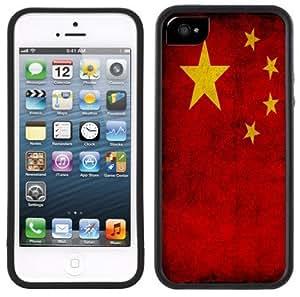 China Flag Handmade iPhone 5C Black Case