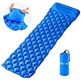 Inflatable Sleeping Pad Glymnis Camping Sleeping Mat Waterproof Lightweight Compact with Pillow, Inflatable