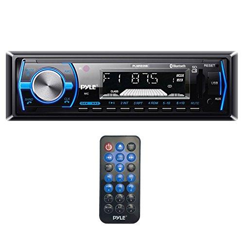 Pyle PLMRB29B Bluetooth MP3 USB AUX SD Card In-Dash Stereo AM/FM Radio Single Din Black Headunit Receiver Player Bundle Combo With Metra 99-9000 Universal Underdash