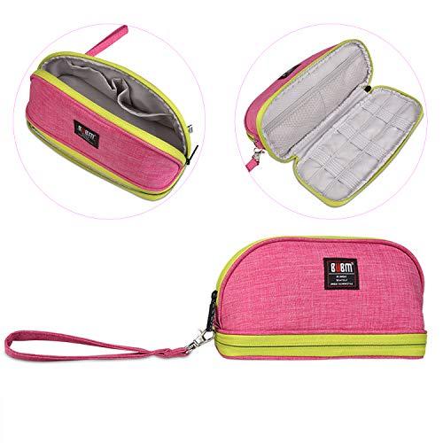 BUBM Toiletry Handbag Cosmetic Case Capacity Portable Makeup Pen Storage Bags Pouch Travel Kit Organizer (Pink)