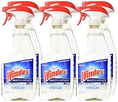 Windex Vinegar Multi-Surface Cleaner Trigger, 6 ct, 23 fl oz