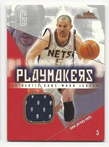 (2004-05 Fleer Showcase Playmakers Jerseys Jason Kidd #JK EX Excellent MEM)