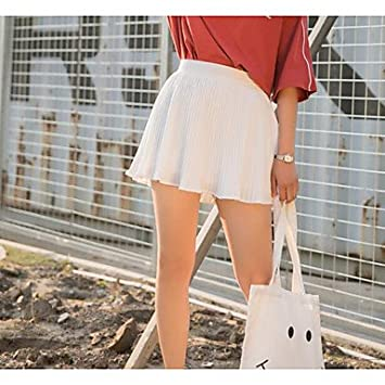DRESS ZLL Mujer Tiro Alto Mini Faldas,Línea A Un Color, m: Amazon ...