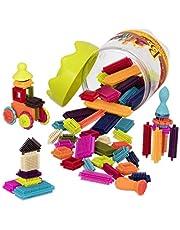 Toys 68 części Bristle Blocks Stackadoos – bloki budowlane STEM, bloki z włosiem, do składowania i przechowywania – zabawka dla dzieci od 2 lat