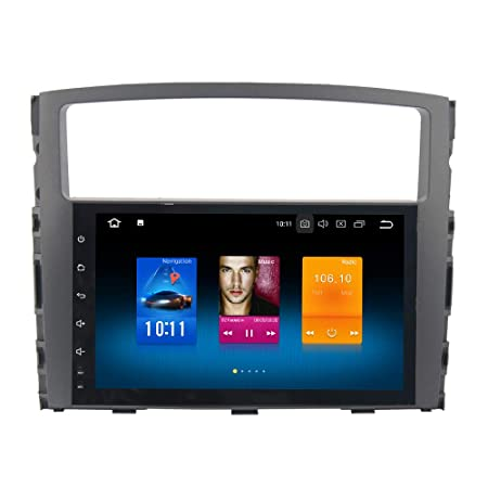 Dasaita Android 8.0 Car Stereo for Mitsubishi Pajero Gps Navigation Radio with 9 Inch Screen 4G Ram and HDMI Output Head Unit