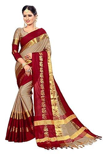 (REKHA Ethnic Shop Pure Silk Ethnic Wear Saree for Women's Sari with Un Stitch Blouse A197)