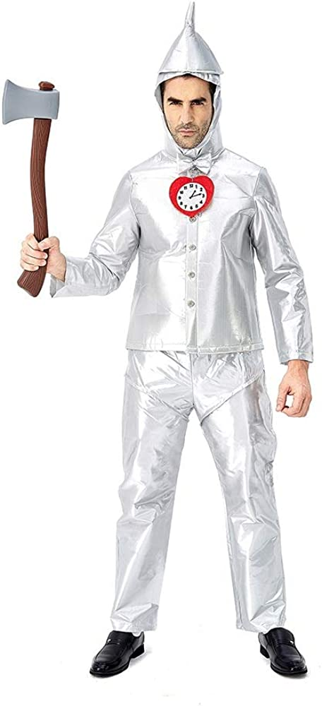 LIMIAO Disfraz de hombre de lata de Halloween Adulto Poliéster de ...