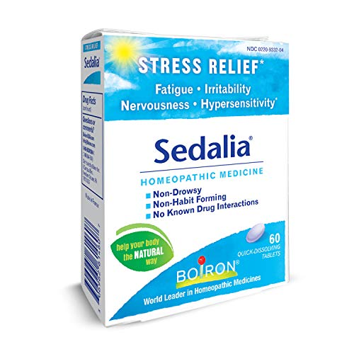 Boiron Sedalia, 60 Tablets, Homeopathic Medicine for Stress for Stress Relief -
