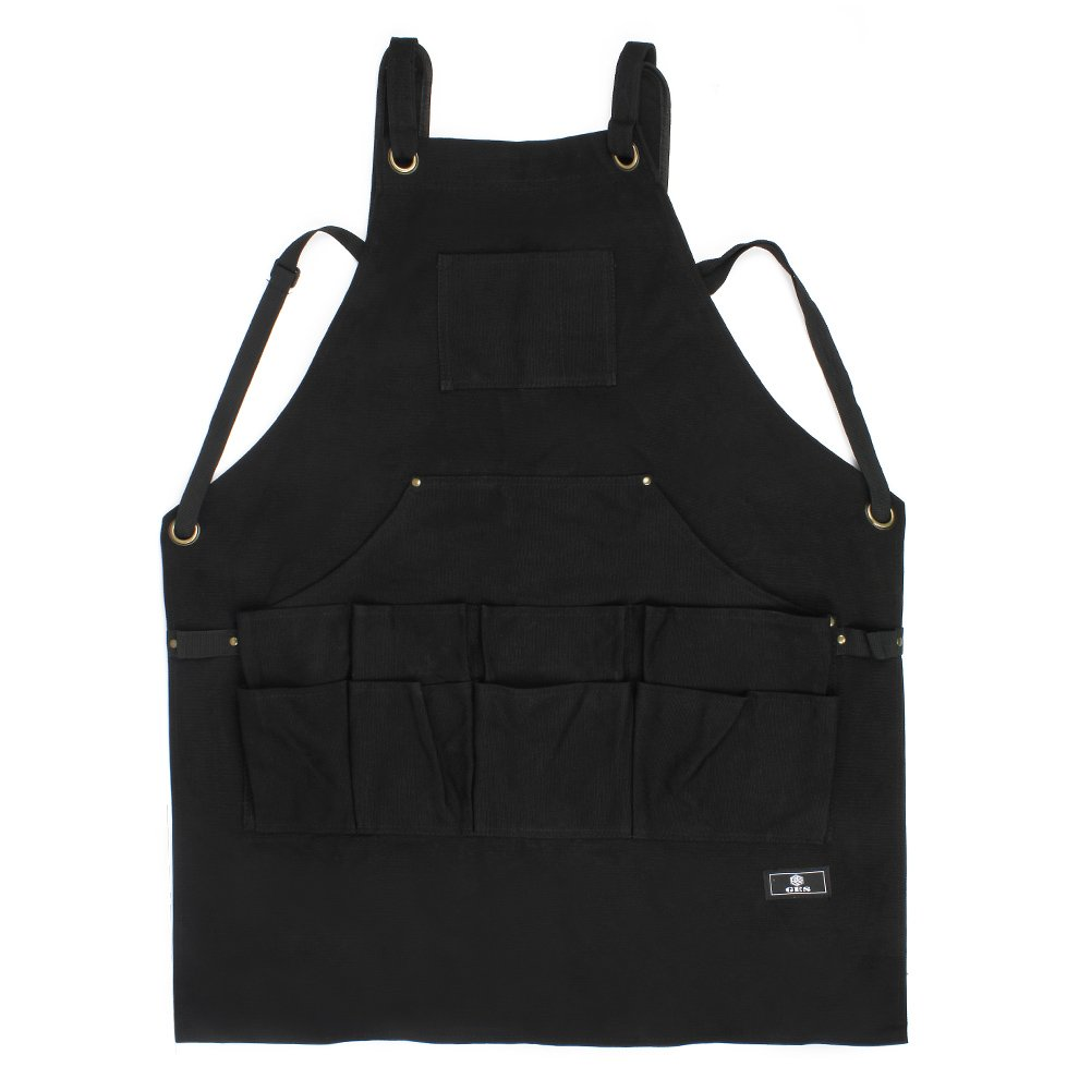 Work Apron With Tool Pockets Upgraded Heavy Duty Canvas Tool Apron Workshop Apron With Quick Release Buckle Adjustable M To XXL black