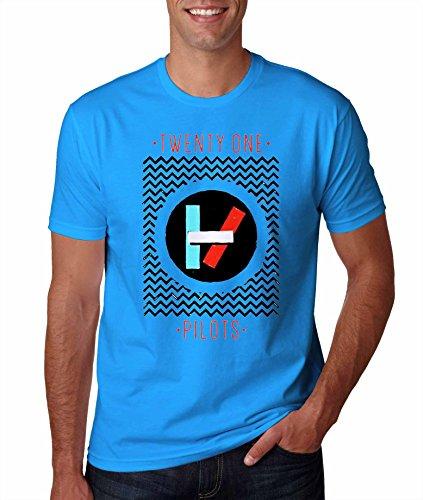 Twenty One Pilots Black Chevron Sapphire Tshirt For Man XXXL