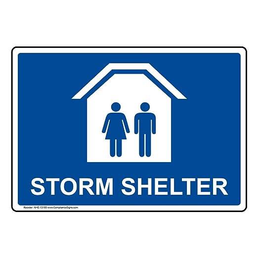 Amazon.com: compliancesigns mal tiempo Shelter Cartel de ...
