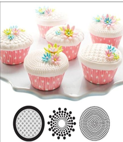 Cupcake and Cookie Texture Tops in Geometric