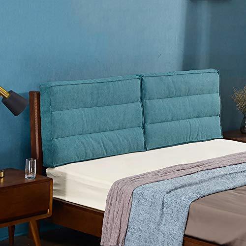 GUOWEI Cabecero Cojín Cama Tapizado Apoyar Respaldo Almohadilla Esponja Relleno Lavable Cubrir, para Cama con cabecero, 7 Colores (Color : E, Size : 180cmx10cmx55cm)