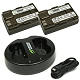 Wasabi Power Battery (2-Pack) and Dual USB Charger for Canon BP-511, BP-511A, BP-512, BP-514