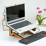Detachable Laptop Vertical Holder, Modern Folding Wooden Desktop Stand for Tablet iPad Macbook Air or Pro (Medium:21.012.02.0)