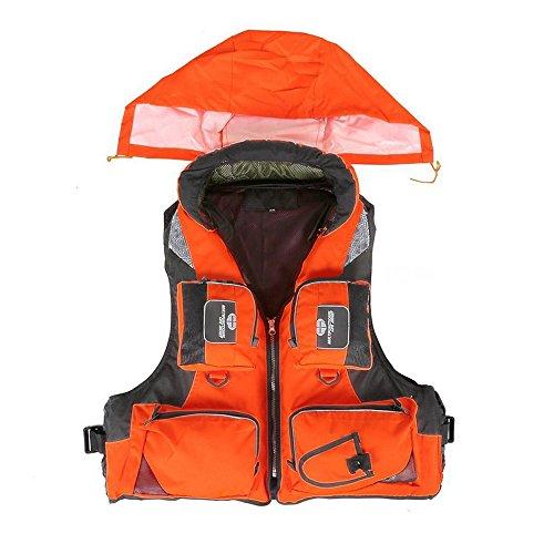 Adult Adjustable Buoyancy Aid Swimming Boating Sailing Fishing Kayak Life Jacket Vest Preservers (Orange, XL)
