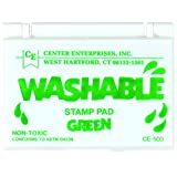 Center Enterprise CE503 Washable Stamp Pads, Green