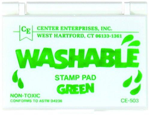 Center Enterprise CE503 Washable Stamp Pads, - Stamps Green