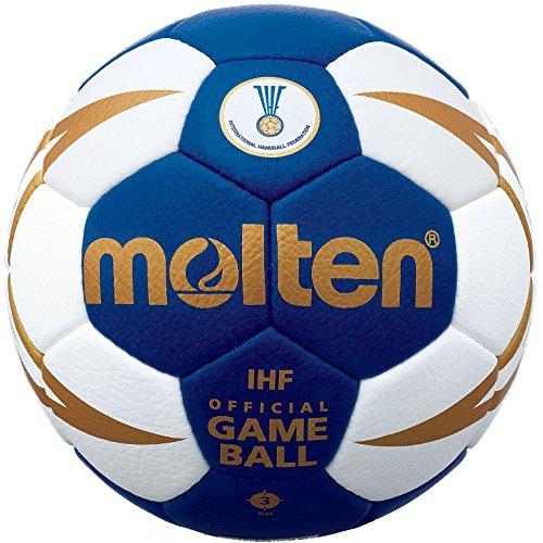 - Molten Elite Handball, Blue/White/Gold, Size 3