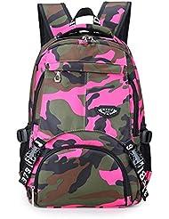 Jelae Camo Girls Back Packs School Backpacks Book Bags for Teens