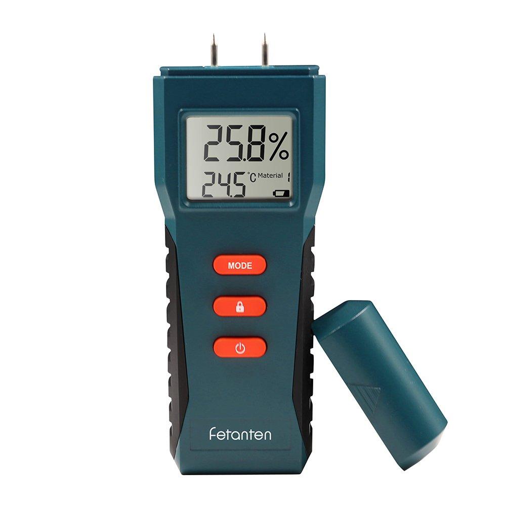 Fetanten l'humidité Mètre pour journaux et bois de chauffage, humidité Mètre et humide Mètre pour les murs et les sols, testeurs électriques avec écran LCD, multimètre numérique Sensorielle pou