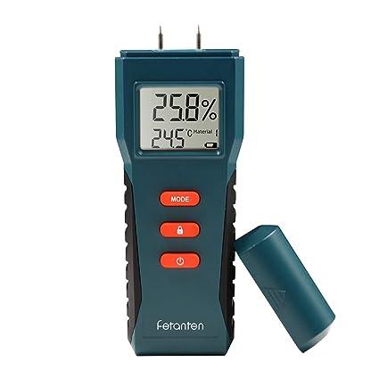 Fetanten Medidor de humedad/Humidímetro con Humedad Medidor Eléctrico Multímetro Digital Sensorial y Pantalla LCD