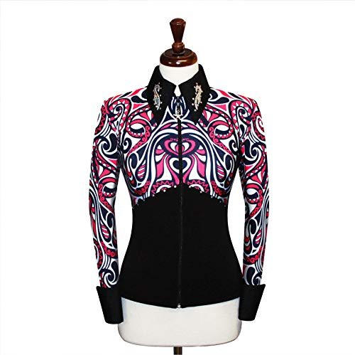 (Small Rodeo Western Horse Riding Show Jacket Horsemanship Pleasure Rail Outfit Blouse )