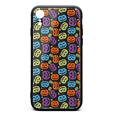 Halloween Pumpkin Faces Phone Case for iPhone xr, Slim Protection Art Line Design Cell Phone Protective Case]()