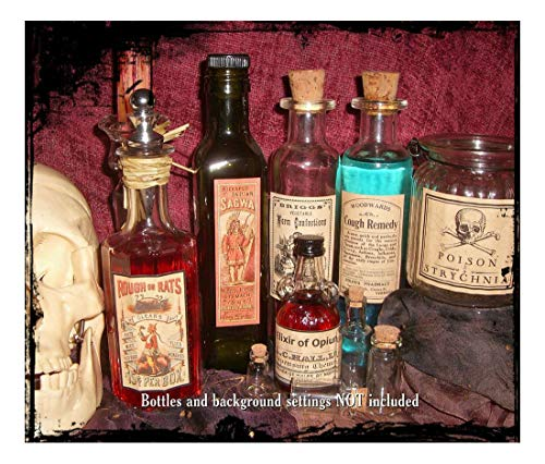 13 POISON VINTAGE LOOK VICTORIAN APOTHECARY LABELS Halloween/Steampunk/Primitive- Sold by Soigne and Swank!