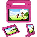 Kids Case Stand for Compatible Huawei MediaPad T3 8 8-in/Huawei Honor Play Pad 2 8-in,I-original Eva Shockproof Protective Carry Handle Lightweight Tablet Holder Cover for Toddlers Children (Magenta)