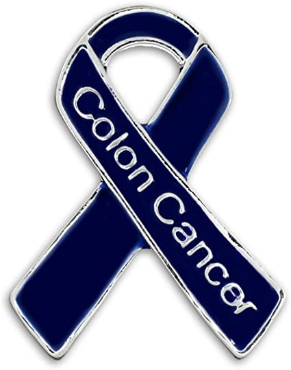 10 Pcs Colon Cancer Awareness Ribbons Lapel Pins Hope Brooch Enamel Jewelry Pins for Man or Women WANDIC Blue Ribbon Pin