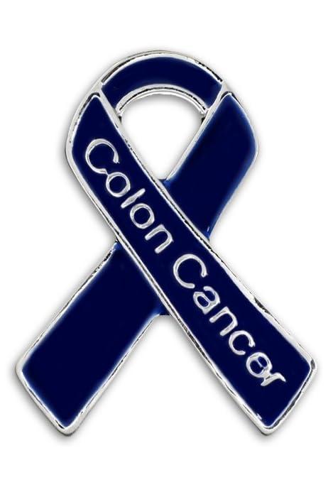 Amazon Com Colon Cancer Dark Blue Awareness Ribbon Pin 1 Pin Arts Crafts Sewing