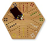 Oak Hand-painted Double-sided Aggravation Game Board, 16'' Wide
