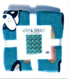 Warm & Snuggly Emoji Icon Throw Blanket 50 x 60 inch Travel Blanket blueish green with French Bulldogs