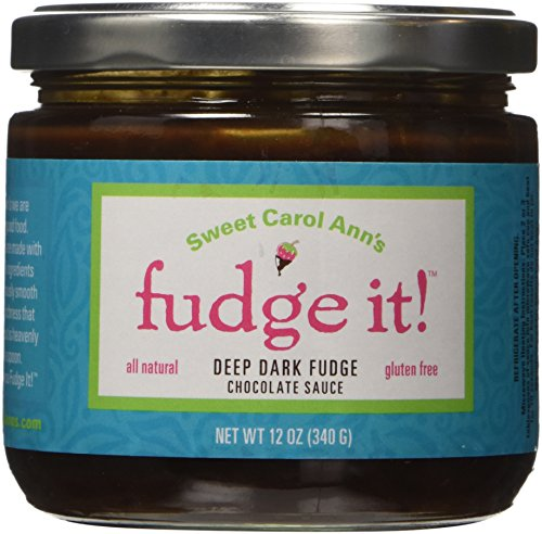 [Fudge It! Deep Dark Chocolate Sauce - All Natural, Gluten Free - Made in Lancaster, PA, Amish] (Dollar Jumbo Glasses)